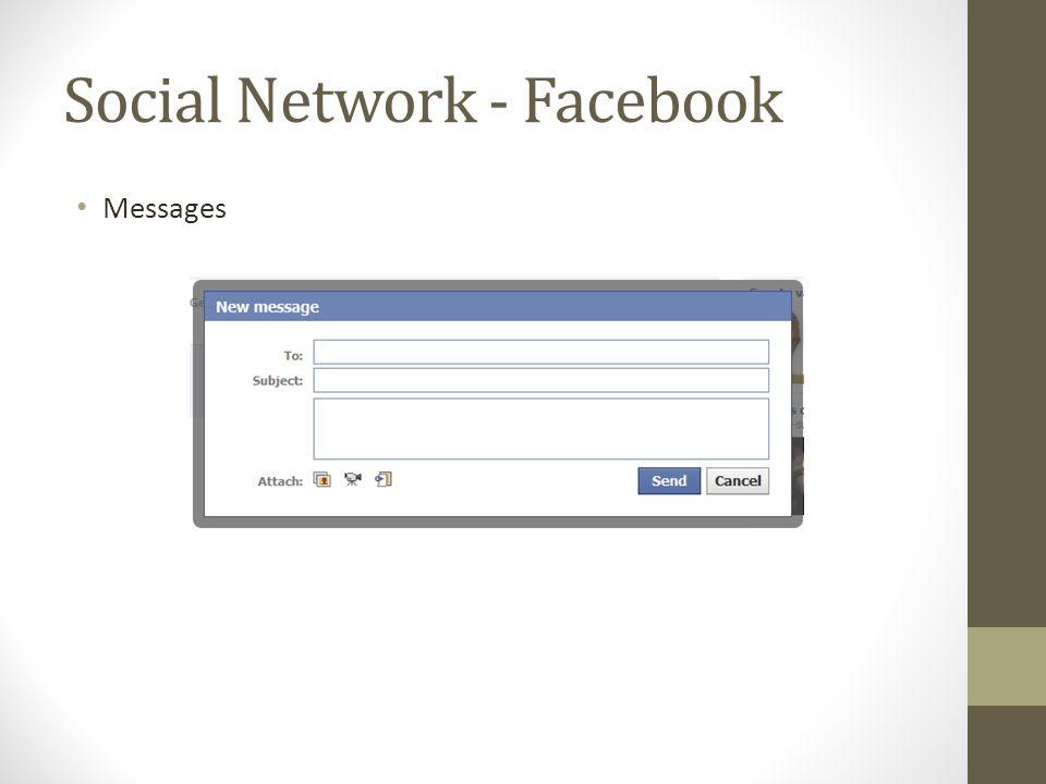 Social Network - Facebook Messages