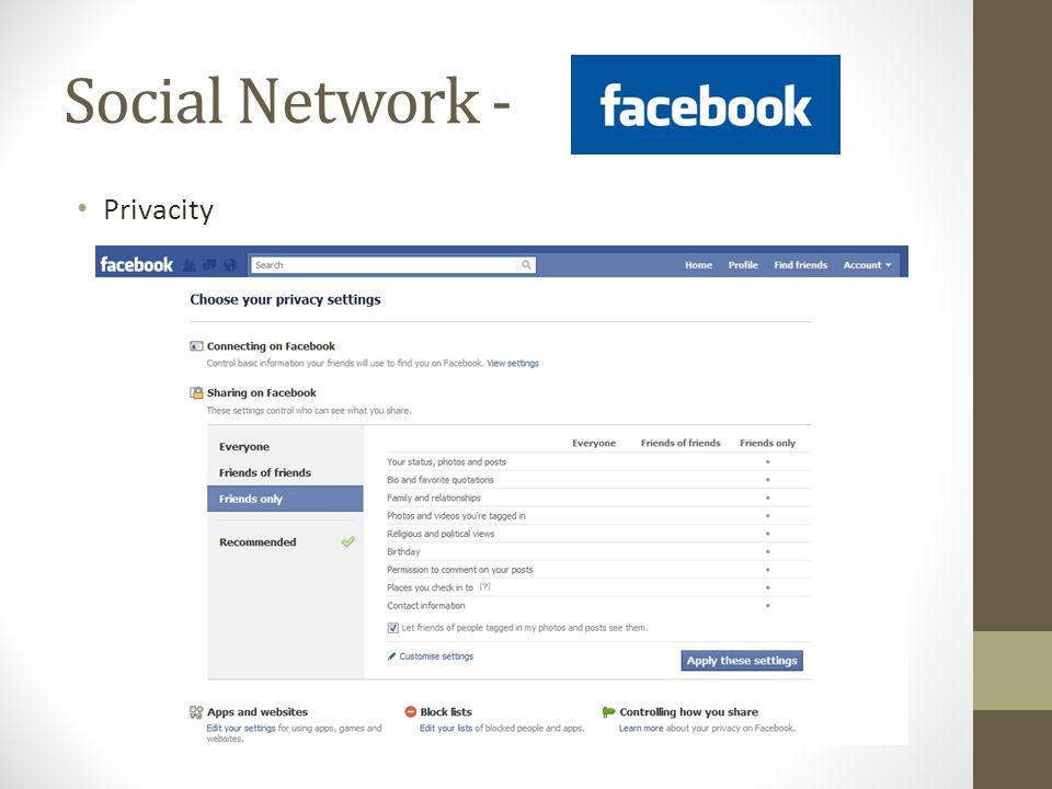 Social Network - Privacity
