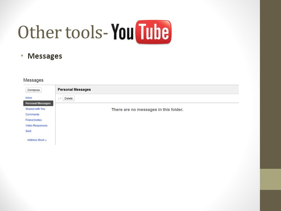 Messages Other tools -
