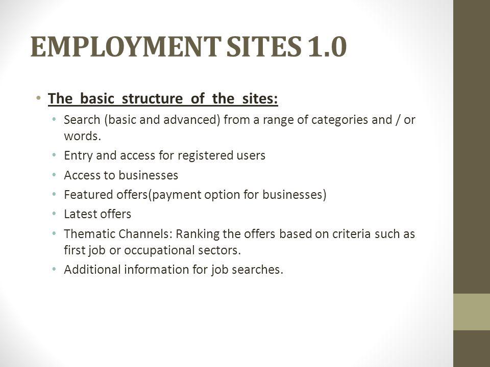 EMPLOYMENT SITES 1.0 LABORIS.NET (http://www.laboris.net) Laboris.net: Ofertas de trabajo   Bolsa de empleo   Recursos humanos Más que una bolsa de trabajo, descubre todas las ofertas de empleo de las que disponemos.