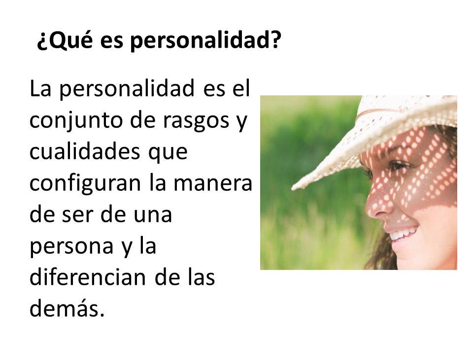 ¿Qué es personalidad.