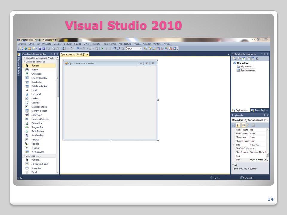 Visual Studio 2010 14