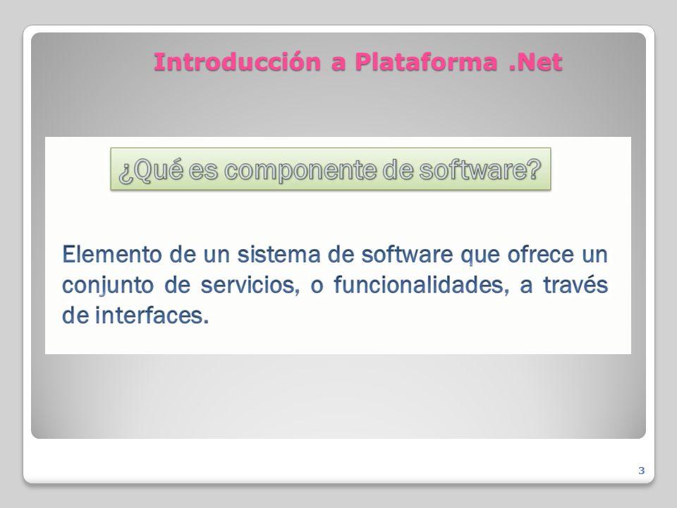 Introducción a Plataforma.Net 3