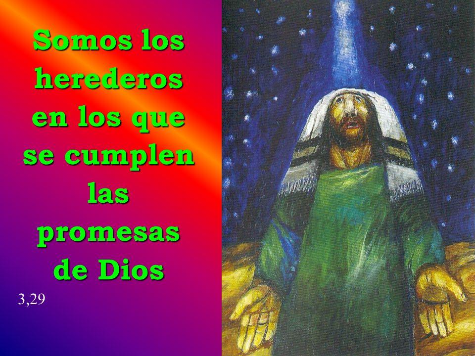 Somos los herederos en los que se cumplen las promesas de Dios 3,29