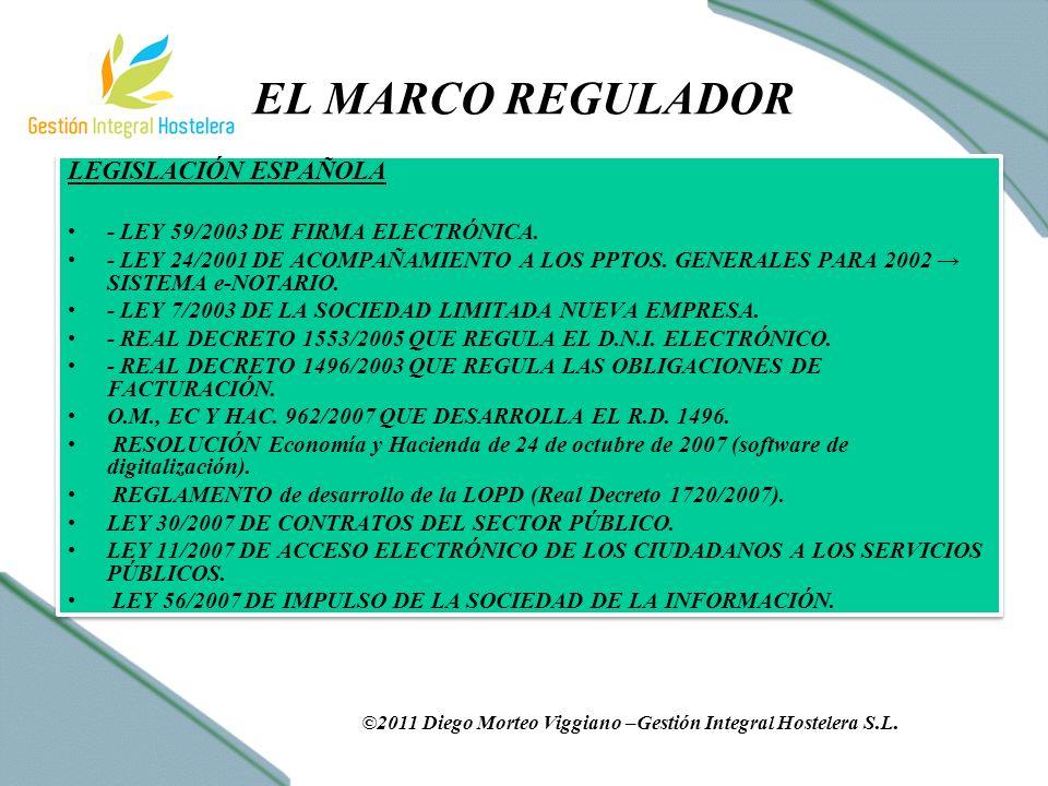 EL MARCO REGULADOR LEGISLACIÓN ESPAÑOLA - LEY 59/2003 DE FIRMA ELECTRÓNICA.