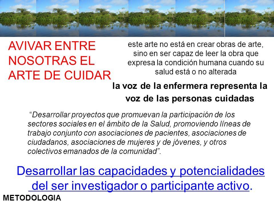 Aportes del IILICS a los conocimientos en cuidados de la salud en Iberoamérica Desarrollar proyectos que promuevan la participación de los sectores so