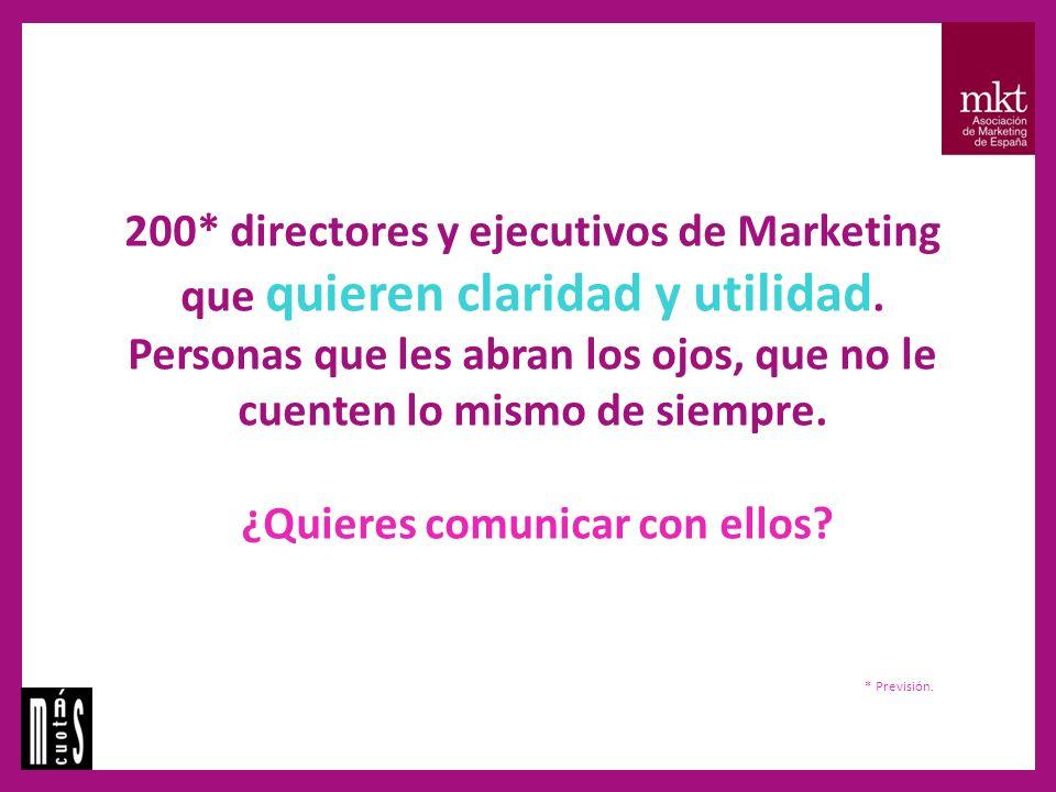 200* directores y ejecutivos de Marketing que quieren claridad y utilidad.
