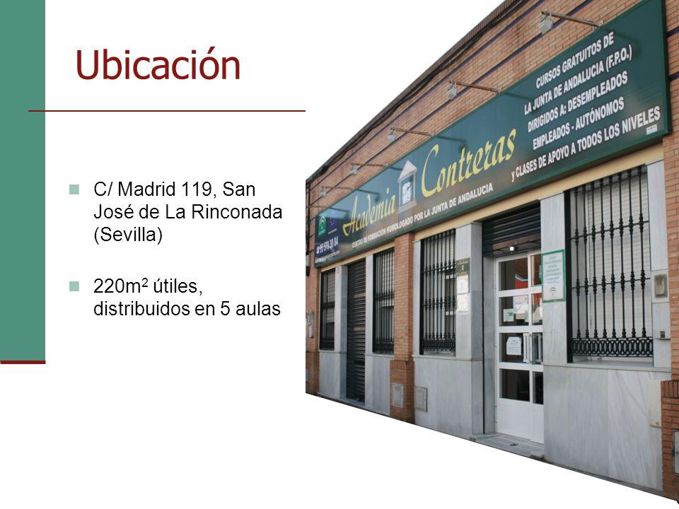Ubicación C/ Madrid 119, San José de La Rinconada (Sevilla) 220m 2 útiles, distribuidos en 5 aulas