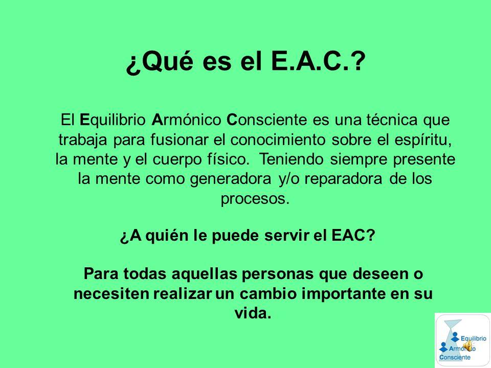 ¿Qué es el E.A.C..