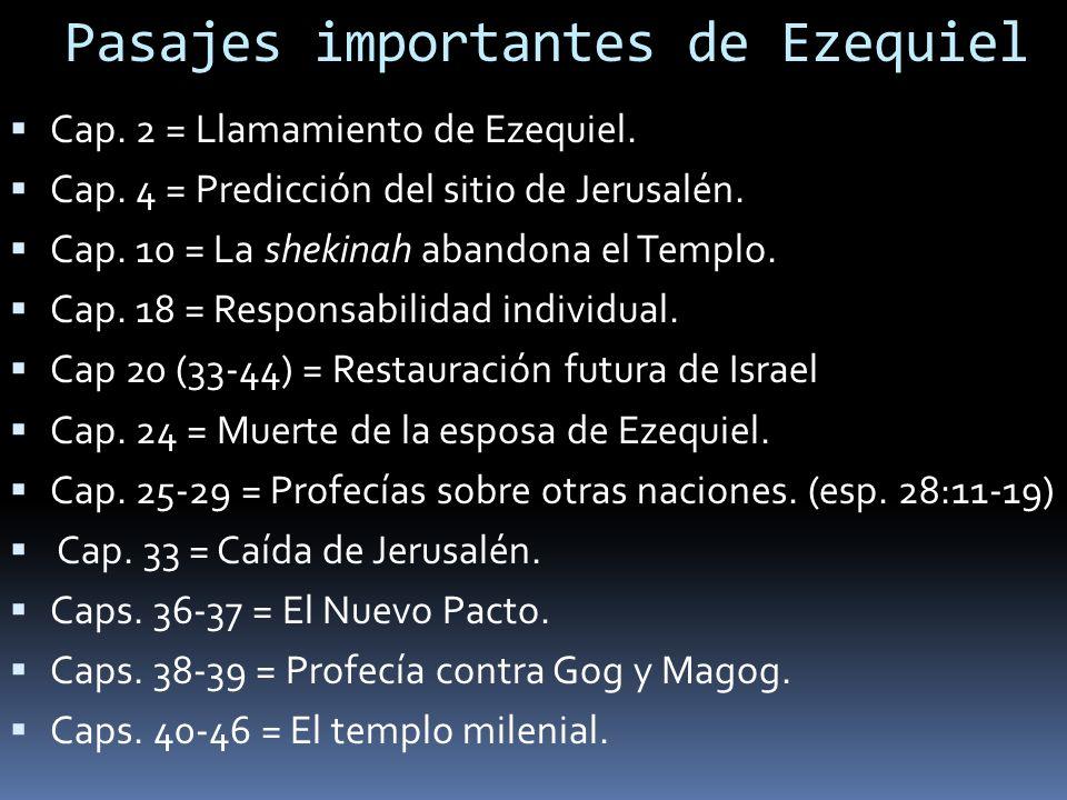 Pasajes importantes de Ezequiel Cap.2 = Llamamiento de Ezequiel.