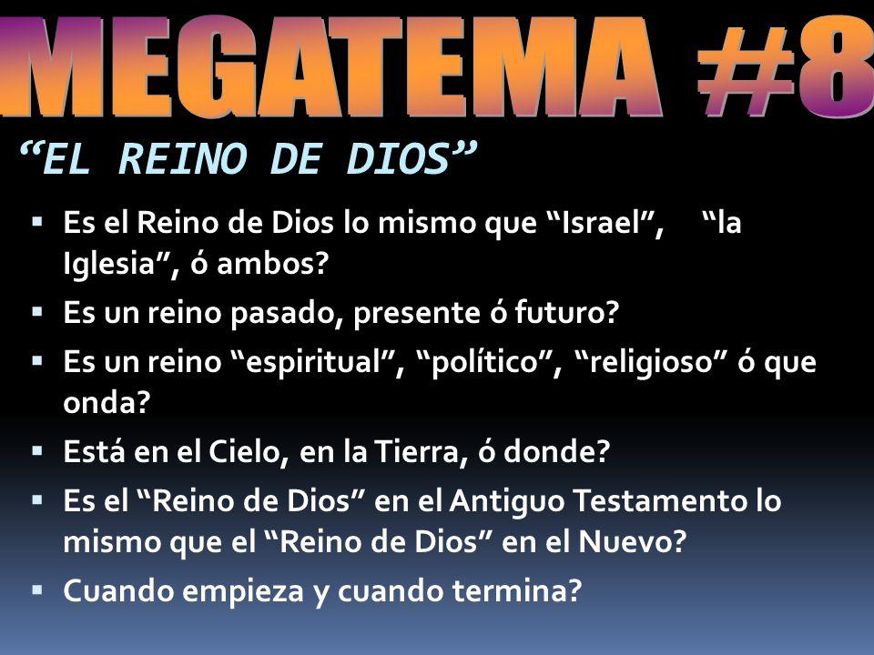 EL REINO DE DIOS Es el Reino de Dios lo mismo que Israel, la Iglesia, ó ambos.
