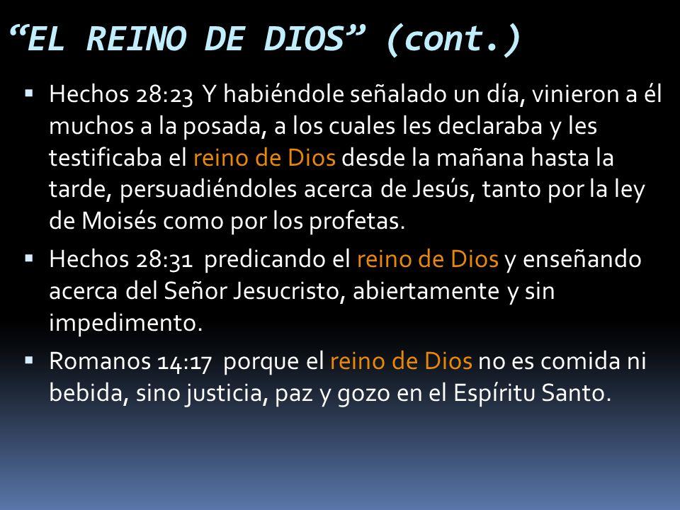 Hechos 28:23 Y habiéndole señalado un día, vinieron a él muchos a la posada, a los cuales les declaraba y les testificaba el reino de Dios desde la mañana hasta la tarde, persuadiéndoles acerca de Jesús, tanto por la ley de Moisés como por los profetas.