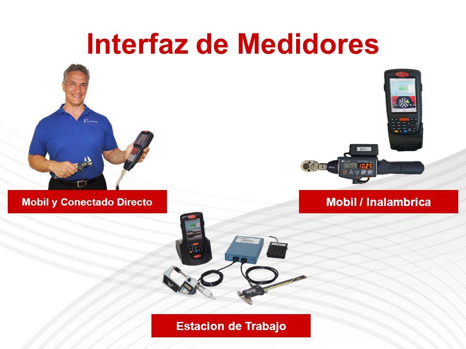 Interfaz de Medidores Mobil y Conectado Directo Mobil / Inalambrica Estacion de Trabajo