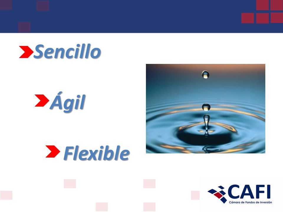 Sencillo Ágil Flexible