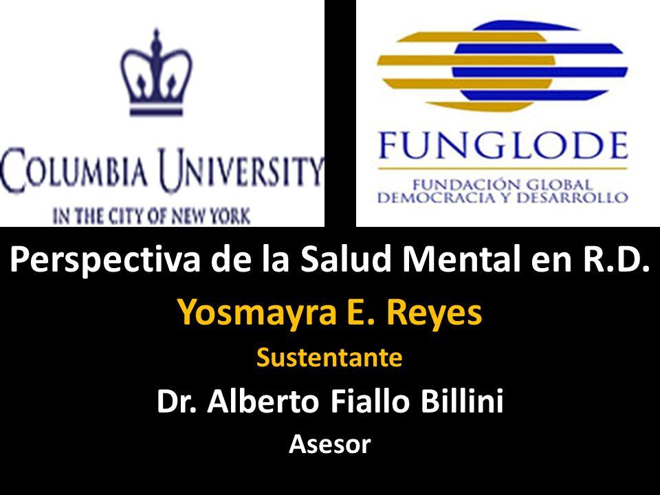 Perspectiva de la Salud Mental en R.D. Yosmayra E.