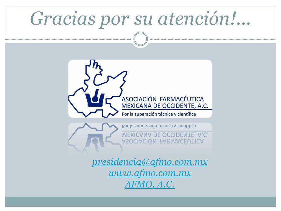Gracias por su atención!... presidencia@afmo.com.mx www.afmo.com.mx AFMO, A.C.