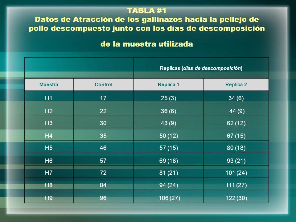 TABLA #4 Comparación Control Vs.