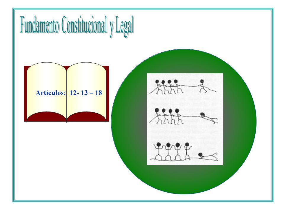 TITULO II DE LOS DERECHOS, LAS GARANTIAS Y LOS DEBERES CAPITULO 1 DE LOS DERECHOS FUNDAMENTALES Artículos: 12- 13 – 18