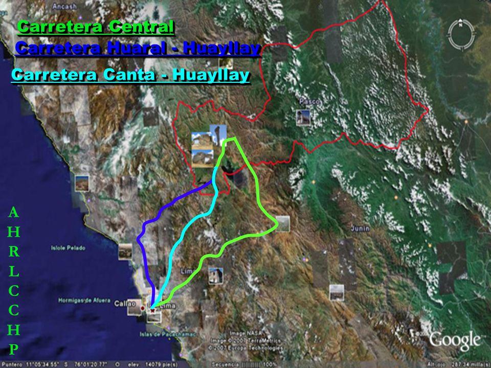 Carretera Canta - Huayllay (Lima - Canta - La Viuda – Huayllay, y viceversa), se recorrerá una distancia de 227 km.; cuyo tiempo estimado de viaje es