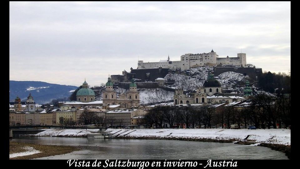 Vista de Saltzburgo en invierno - Austria
