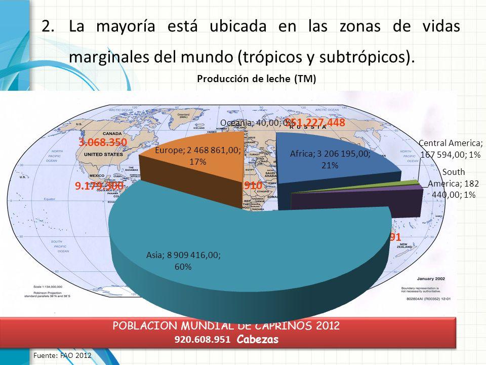 POBLACION MUNDIAL DE OVINOS 2012 1.043.712.633 Cabezas POBLACION MUNDIAL DE OVINOS 2012 1.043.712.633 Cabezas Fuente: FAO 2012 463.575.597 255.481.282 93.101.675 127.306.839 104.247.240