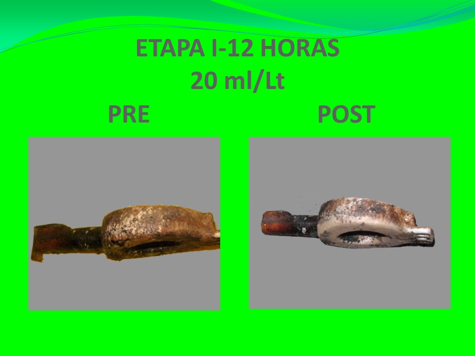ETAPA I-12 HORAS 20 ml/Lt PRE POST