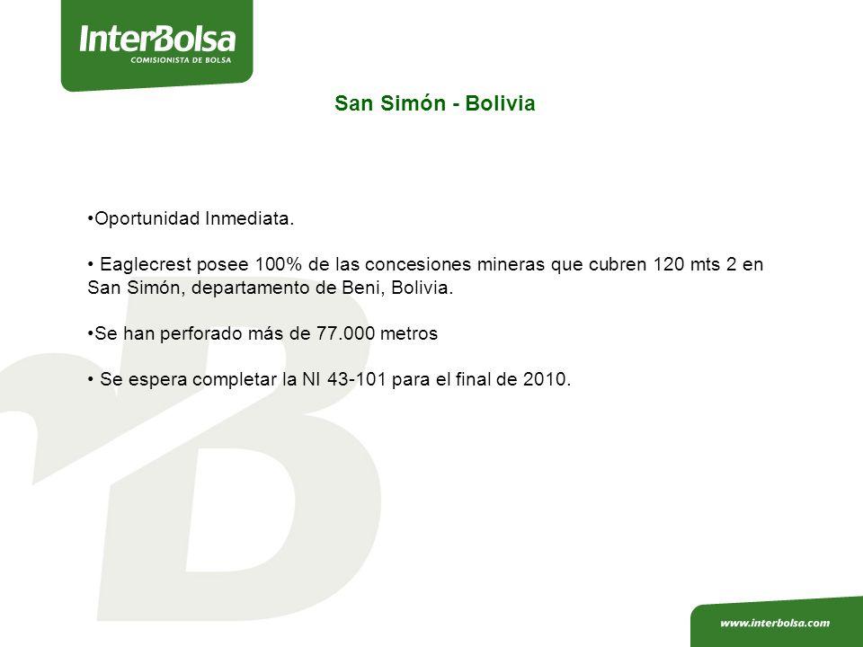 San Simón - Bolivia Oportunidad Inmediata.