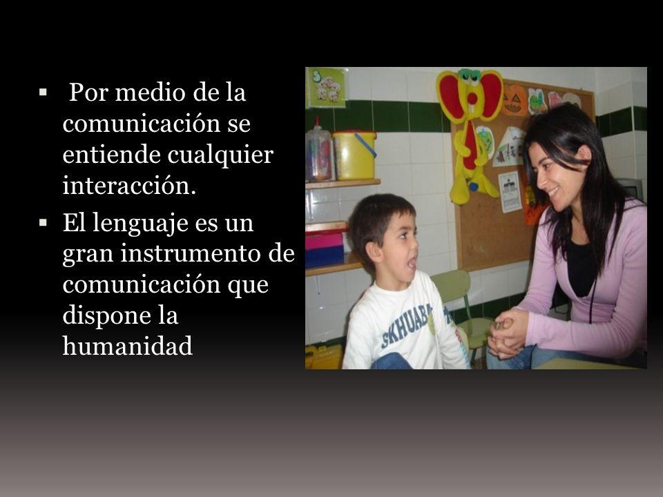 Por medio de la comunicación se entiende cualquier interacción.