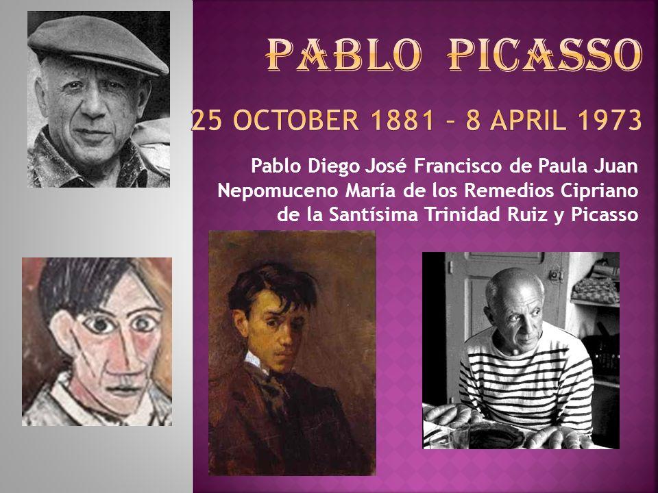Pablo Diego José Francisco de Paula Juan Nepomuceno María de los Remedios Cipriano de la Santísima Trinidad Ruiz y Picasso