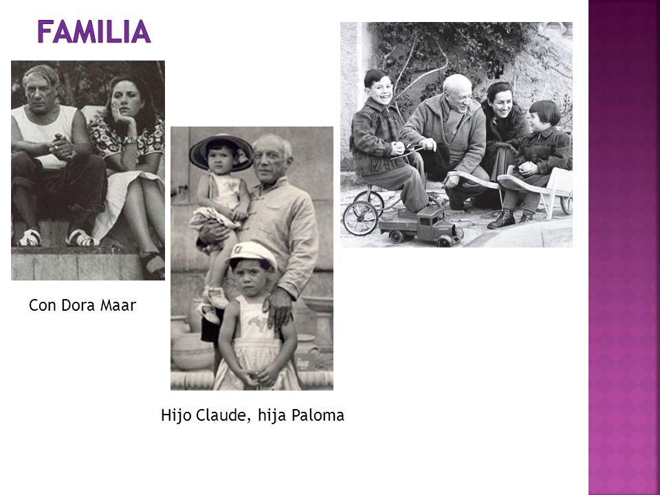 Hijo Claude, hija Paloma Con Dora Maar