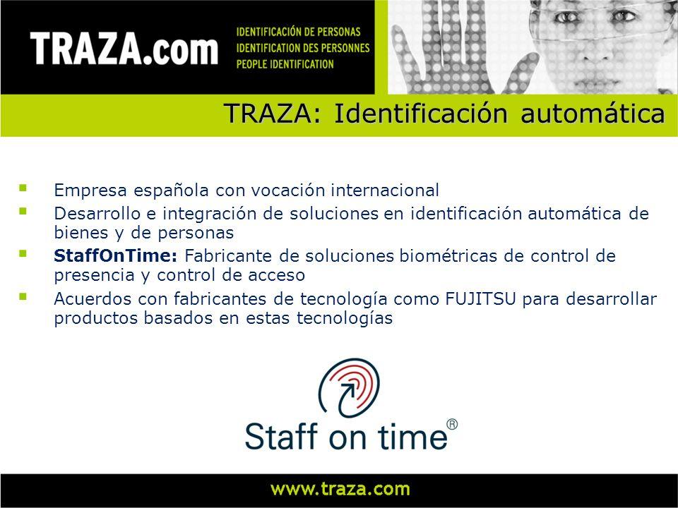 Empresa española con vocación internacional Desarrollo e integración de soluciones en identificación automática de bienes y de personas StaffOnTime: F