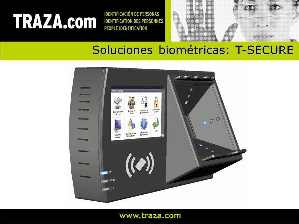 Soluciones biométricas Terminal de CONTROL DE ACCESO y CONTROL DE PRESENCIA Soporta hasta 2.500 usuarios 480x272 LCD a color con pantalla táctil Comparación 1:N y 1:1 Solución completa (software + hardware) StaffOnTime PalmSecure
