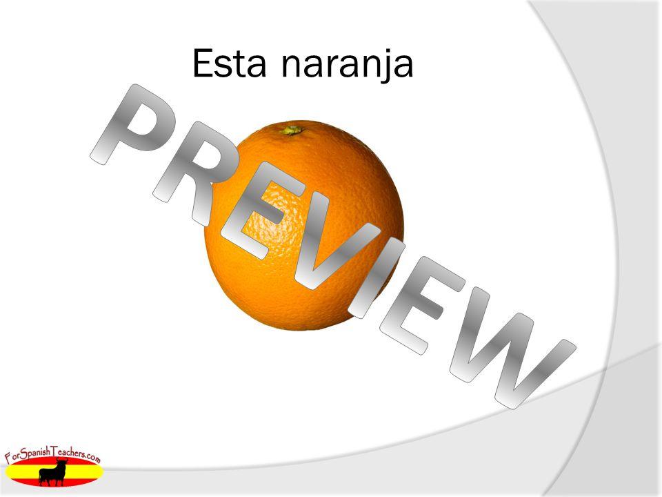 Esta naranja