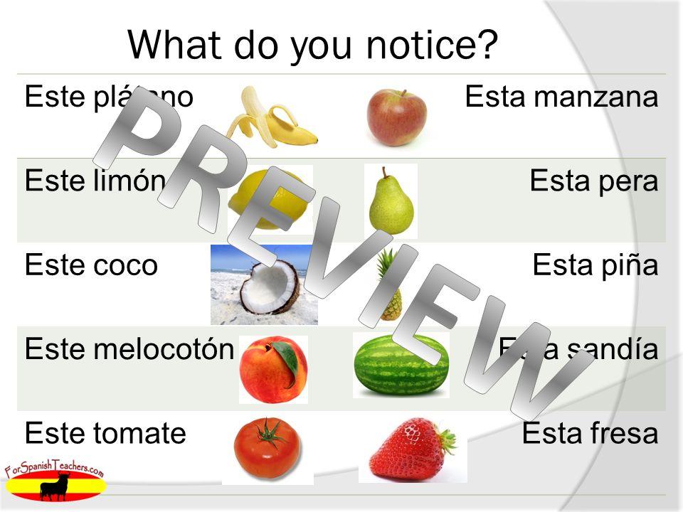 Práctica 1. est__ frambuesa 2. est__ fresas a as