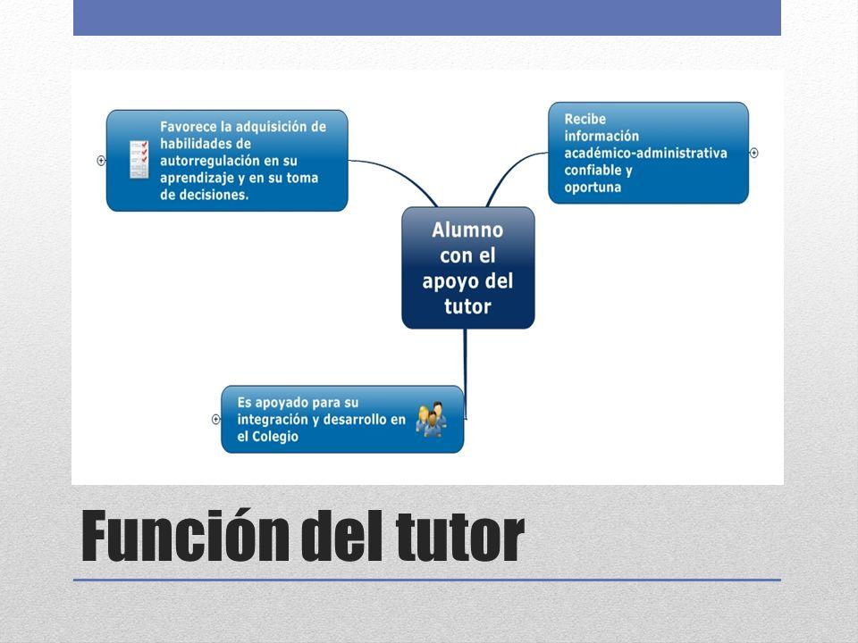 Función del tutor