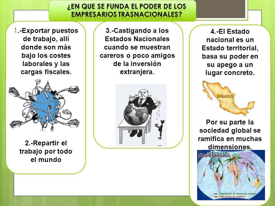 En el Estado nacional la soberanía está ligada al concepto de control de las actividades económicas en el interior de su territorio.