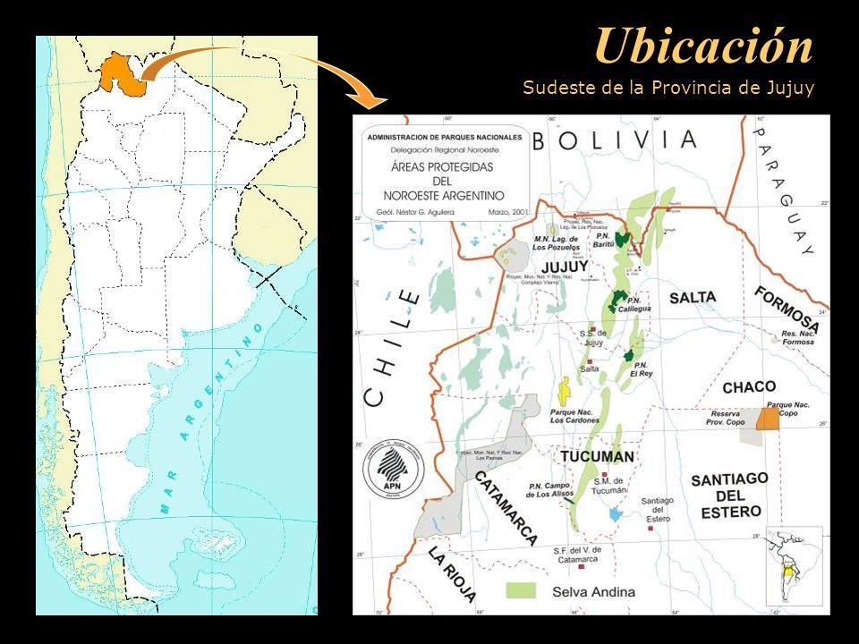 Ubicación Sudeste de la Provincia de Jujuy