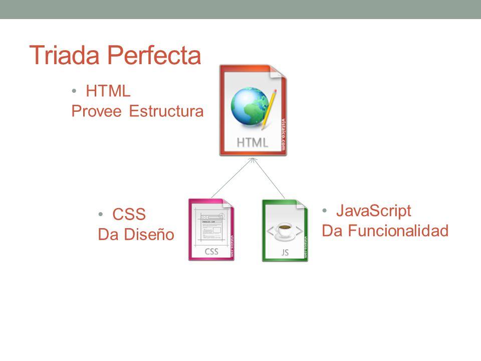 Triada Perfecta HTML Provee Estructura CSS Da Diseño JavaScript Da Funcionalidad