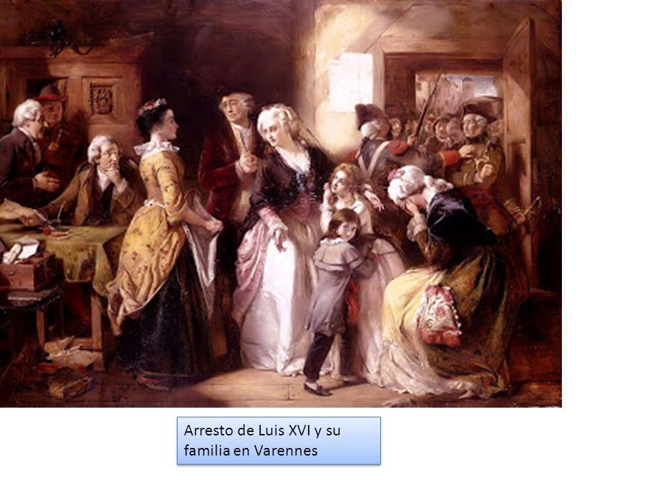 Arresto de Luis XVI y su familia en Varennes