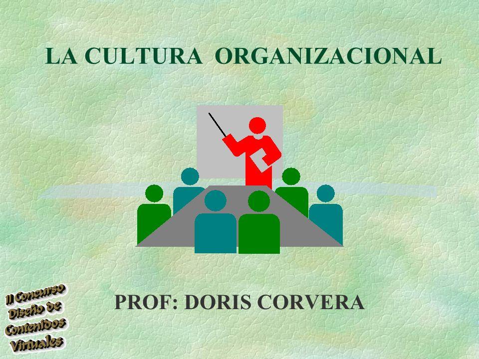 LA CULTURA ORGANIZACIONAL PROF: DORIS CORVERA