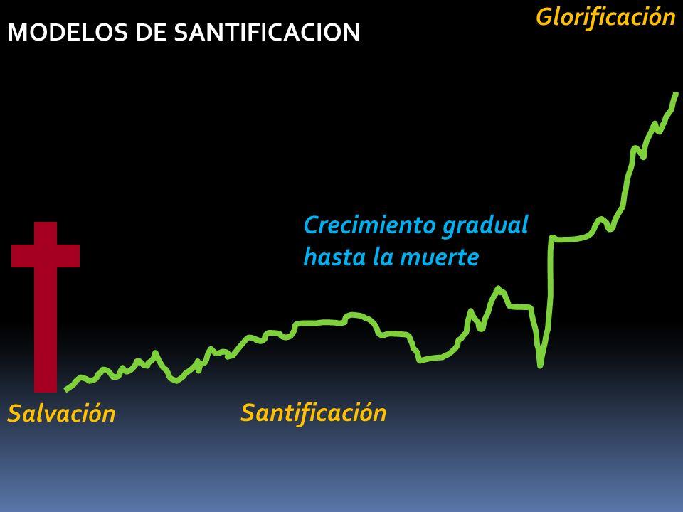 MODELOS DE SANTIFICACION Crecimiento gradual hasta la muerte SalvaciónGlorificación Santificación