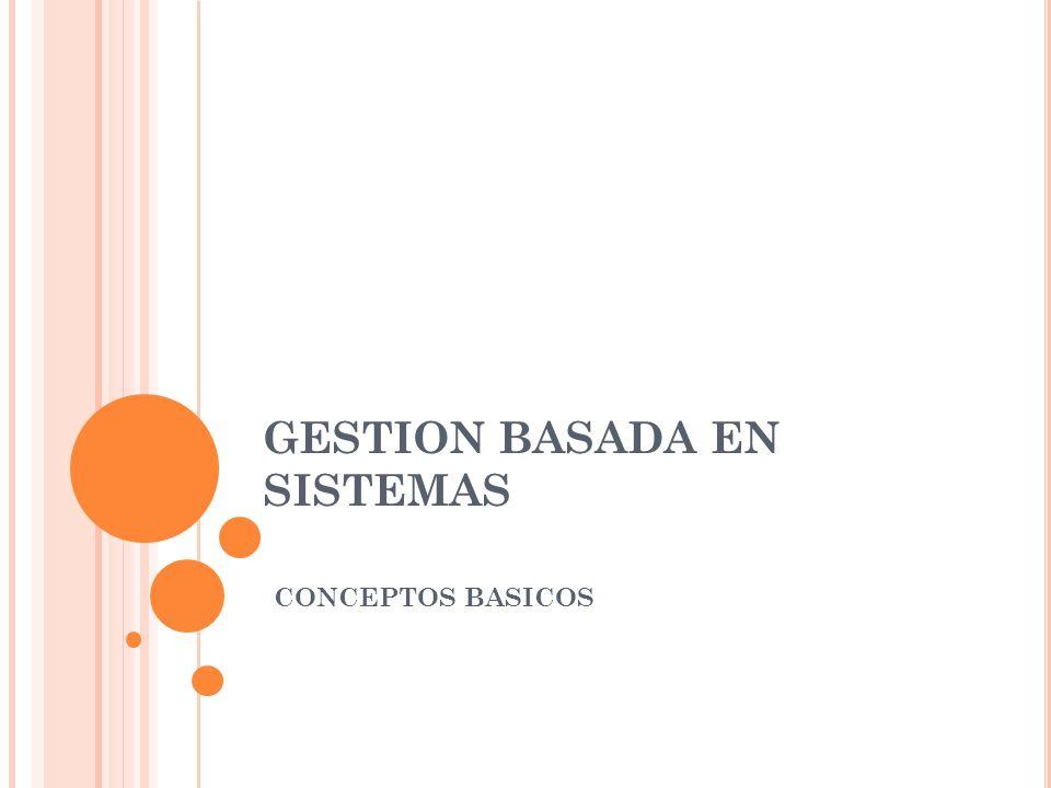 GESTION BASADA EN SISTEMAS CONCEPTOS BASICOS