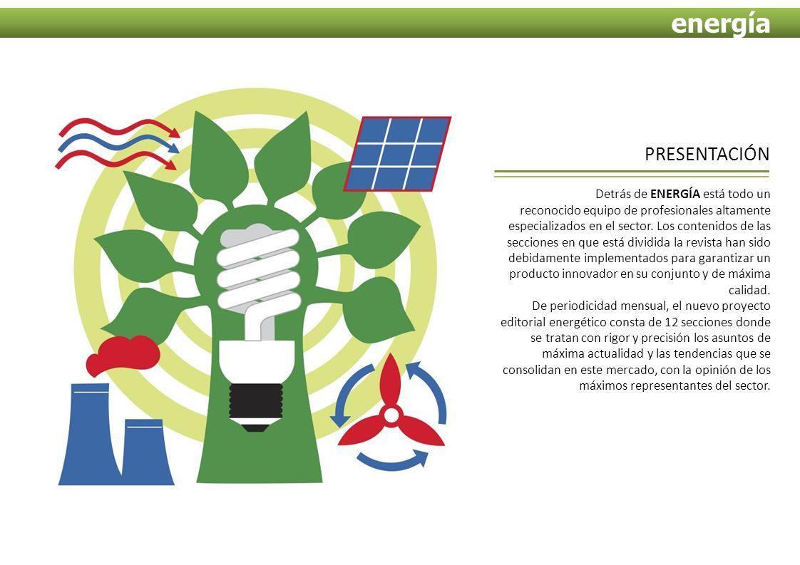 Detrás de ENERGÍA está todo un reconocido equipo de profesionales altamente especializados en el sector.