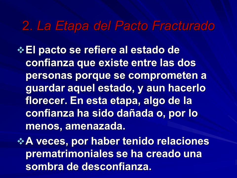 2. La Etapa del Pacto Fracturado El pacto se refiere al estado de confianza que existe entre las dos personas porque se comprometen a guardar aquel es