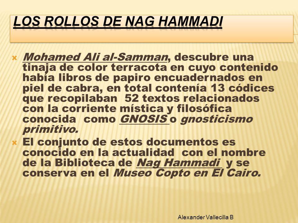 Mohamed Ali al-Samman, descubre una tinaja de color terracota en cuyo contenido había libros de papiro encuadernados en piel de cabra, en total conten