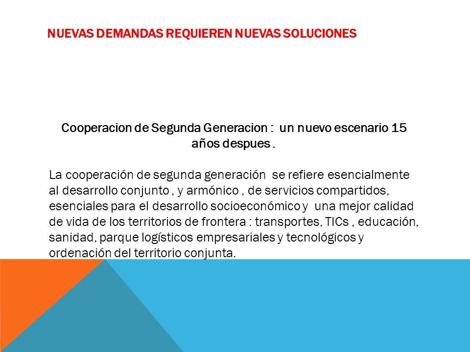 Cooperacion de Segunda Generacion : un nuevo escenario 15 años despues.