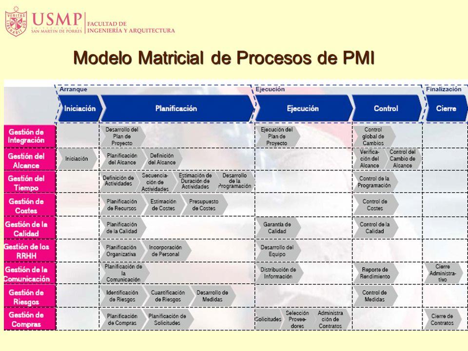 Modelo Matricial de Procesos de PMI