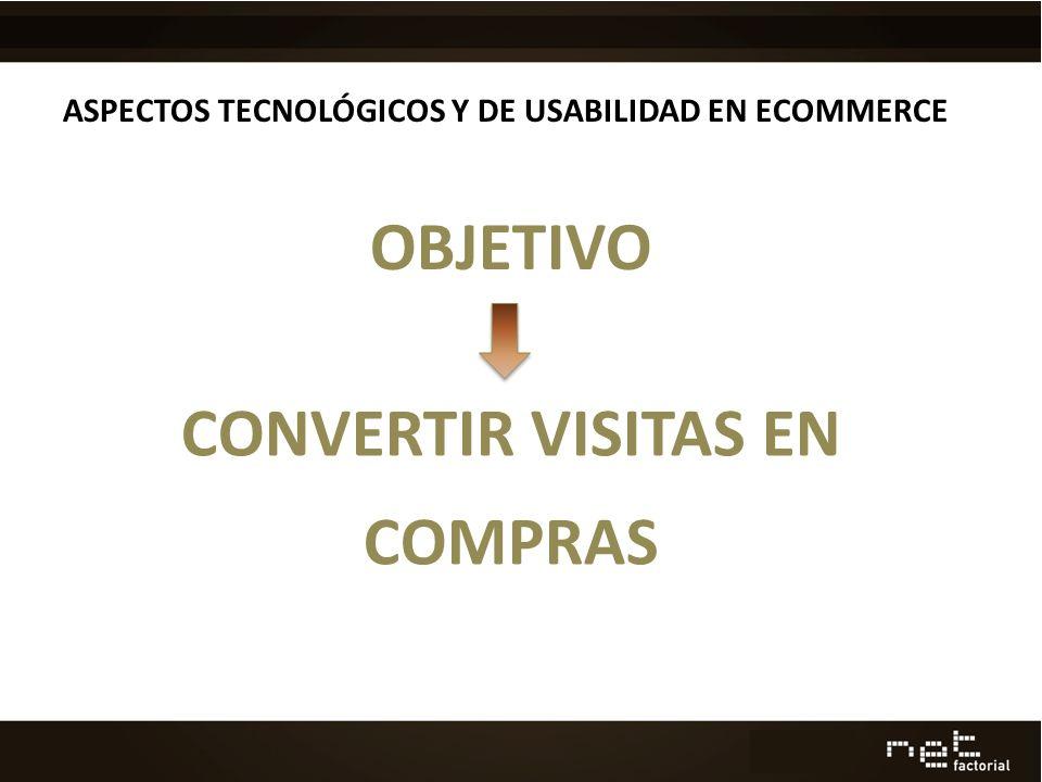 ASPECTOS TECNOLÓGICOS Y DE USABILIDAD EN ECOMMERCE OBJETIVO CONVERTIR VISITAS EN COMPRAS