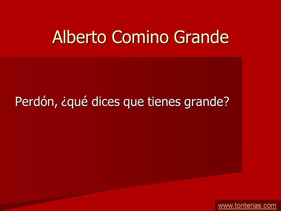 Alberto Comino Grande Perdón, ¿qué dices que tienes grande? www.tonterias.com