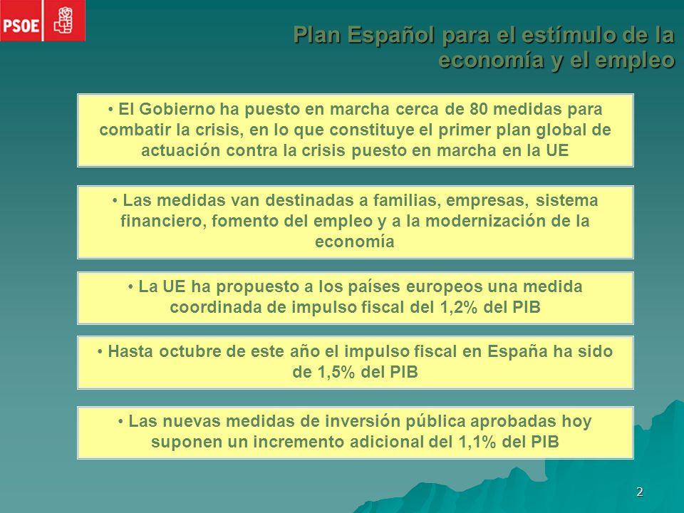 1 Plan Español para el estímulo de la economía y el empleo